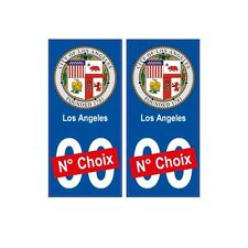 Los Angeles ville sticker numéro au choix autocollant blason USA city arrondis