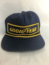 a24b9a3f79768 Vintage Goodyear Snapback Trucker Hat Cap Patch Blue