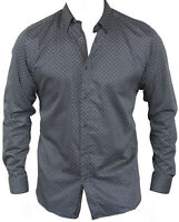 New Ted Baker Mens Casual Shirt in Black Colour Size 4