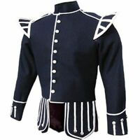 NEW 100/% Blend Wool Doublet Military Tunic Sherrifmuir Kilt Jacket /& Waistcoat