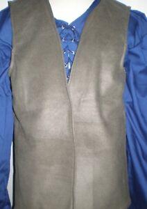 New Handmade Renaissance / Pirate Boy's Vest Size 5/6 Various Colors
