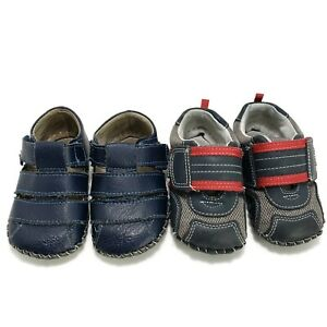Pediped Toddler Boy Soft Soled Casual Shoes Size 18-24 Months Size 5 5.6 lot 2