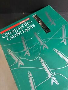 Crate and Barrel Christmas Candle Lights Made Sweden 15 Lights Working Retro