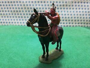 Indian. IN Horse Native American Old Wilde West - Elastolin 70 MM