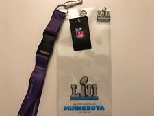"Super Bowl LII Ticket Holder, Lanyard, ""I Was There"" Pin 52 ""MINT CONDITION"""