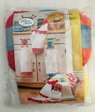 Annie's Hook & Needle Kit Towel Toppers & Trims New Knit or Crochet Retired