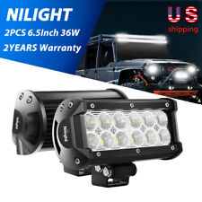 "2PCS 6.5""Inch 12V 36W LED Work Light Bar Flood Pods Driving Off-Road Tractor 4WD"