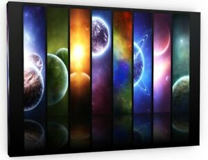 SPACE PLANETS SOLAR SYSTEM UNIVERSE LARGE CANVAS PICTURE WALL ART 682