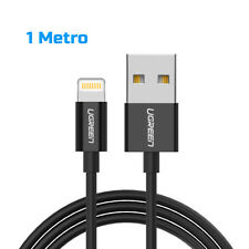 Cable USB Lightning negro 1m Ugreen certificado MFI Apple 2.4a
