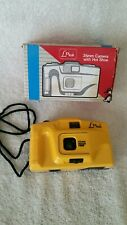 Lexxus Yellow Fixed-Focus 35mm Film Camera With Hot Shoe
