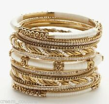 Amrita Singh Rupal Ivory 15 Piece Bangle Set Lot Size 8 NEW $300 KB355