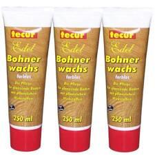 (21,65€/L) Tecur Bohnerwachs farblos 3x250ml °s