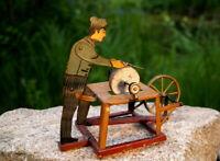 altes Blechspielzeug Antriebsmodell für Dampfmaschine Arnold Scherenschleifer