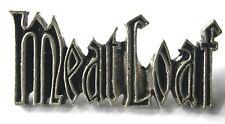 MEAT LOAF Old OG Vtg 1990`s Shaped CAST Metal Pin Badge RARE By Poker(NOT patch)