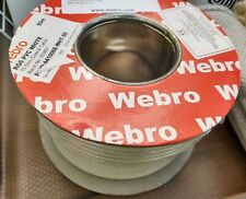 WEBRO 50m RG6 White Satellite TV Aerial Cable Digital Co-ax Sky Freeview