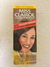 Vintage MISS CLAIROL Hair Color Bath with Collagen Enriched Coffee Brown 57 C60