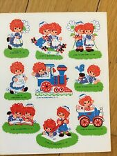 Vintage 1980 Raggedy Ann And Andy Sticker Sheet Unused