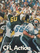 1978 British Columbia Lions vs. Saskatchewan Roughriders CFL Football Program