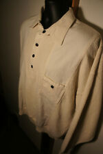 Unworn Blue Willi's Indigo Dyed Heavy Knit Cotton Polo Sweater Shirt Sz L     s6