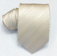 Klassisch krawatte seide 8,5 Morgana italien metal beige business / hochzeit €40