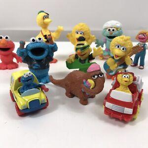 Sesame Street Henson Characters Cars Big Bird Guitars Cookie Snuff lot of 11