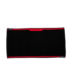 """Titleist Players Towel NEW Golf Accessory 16""""x32"""" TA9PLTWL-0 Black Red"""