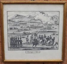 Stampa Napoleone battaglia di Marengo, in cornice dorata, epoca '900