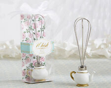 48 Tea Time Whimsy Teapot Whisk Kitchen Wedding Bridal Shower Favors
