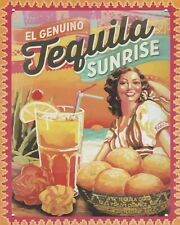 TEQUILA SUNRISE - PROSECCO WINE METAL PLAQUE TIN SIGN OTHERS LISTED N135