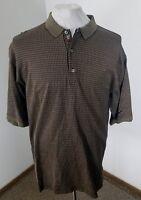 BOBBY JONES Golf Polo Men's Shirt 100% Cotton BEIGE/RED Squares Size XXL!!