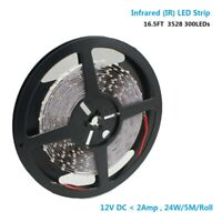 DC12V SMD3528-300-IR InfraRed 940nm 60LEDs/M Flexible LED Strips Non-Waterproof
