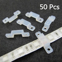 50pcs 10mm Silicone Mounting Bracket Clip Fastener for Fixing Strip LED L UKPL