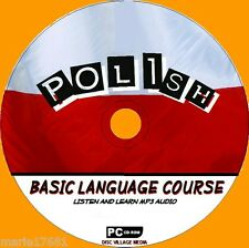 LEARN TO SPEAK POLISH PC-CD LANGUAGE COURSE EASY BEGINNER PROGRAM MP3 AUDIO NEW