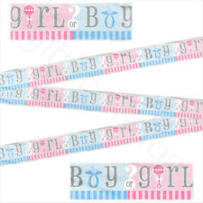 12ft Boy or Girl Gender Reveal Foil Banner Bunting Baby Shower Party Decorations