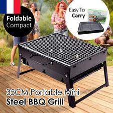 Barbecue Portable Petit Barbecue à Charbon de Table Domestique Pliable en Acier