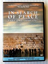 In Search Of Peace - Part One 1948-1967 ~ Rare OOP Screening DVD Movie Promo