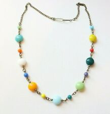 Vintage Czech Glass Harlequin Style Beaded Glass Necklace