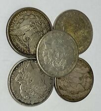 Lot of 5 1921 Morgan Silver Dollars - $5 Face 90% - Bullion - Issues 1/4 Roll