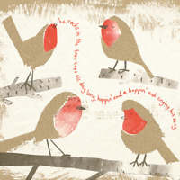 Pack of 8 Rockin' Robins NSPCC Charity Christmas Cards Xmas Cards