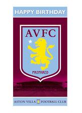 Aston Villa Anniversaire Carte De Vœux Gratuit 1ST Classe affranchissement (AV001)