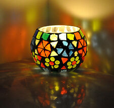 Indian Mosaic Candle Holder Lamp Party Romantic Light Votive Tea Light Lamp 3""