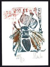 42)Nr.091-EXLIBRIS, Eva Stache, Insekt + People without clothes