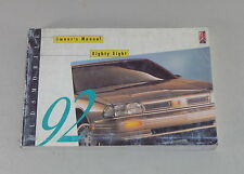 Owner's Manual / Betriebsanleitung Oldsmobile Eighty Eight 88 Stand 1992