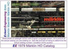 EE 1979 D GD Marklin Total Catalog 1979 Good Condition