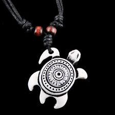 Fashion White Yak Bone Sea Turtle Pendant Necklace
