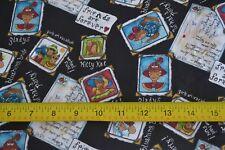 By 1/2 Yd, Cat Photo Album on Black Quilting Cotton, Hi-Fashion Fabrics, N1406