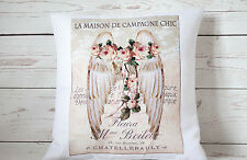 """Beautiful Angel Wings  - 16"""" cushion cover French shabby vintage chic"""