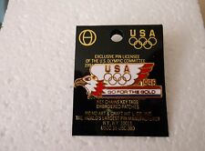 "Vintage 1996 Atlanta Summer Olympic Games U.S.A. ""Go For The Gold"" EAGLE pin"