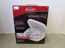 Kiss (02464) Power File Nail File Deluxe Nail Care Kit w/ Power Supply BRAND NEW