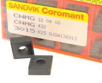 10 New Surplus Sandvik CNMG-432 3015 Carbide Inserts